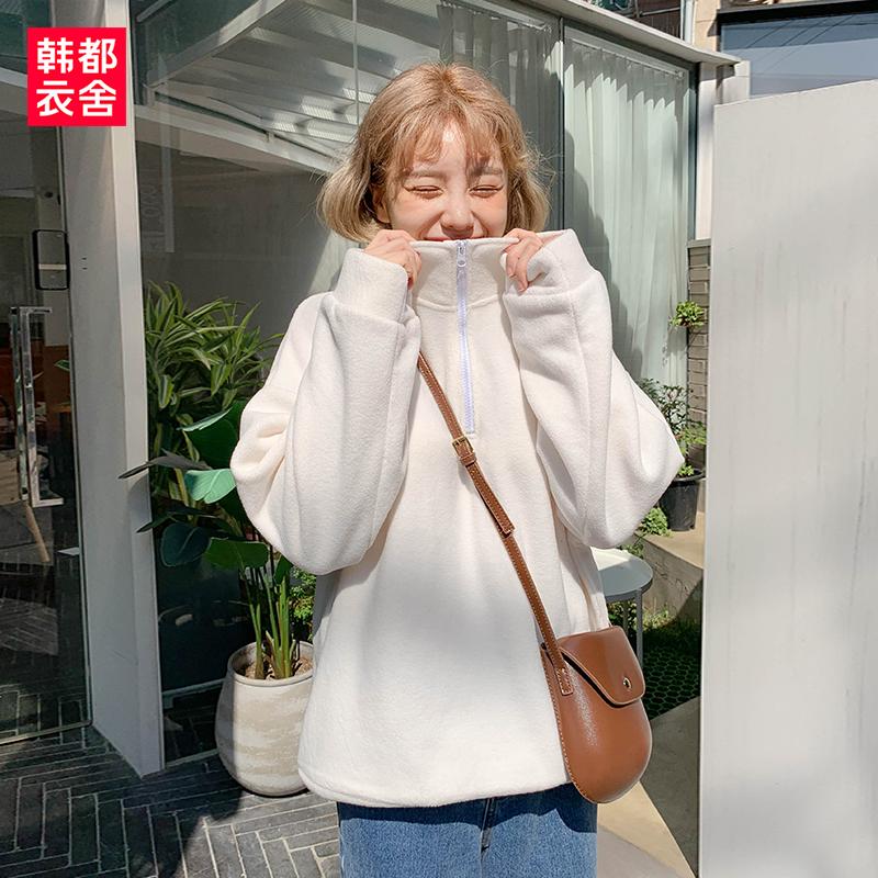韩都衣舍2019秋冬新款韩版宽松卫衣