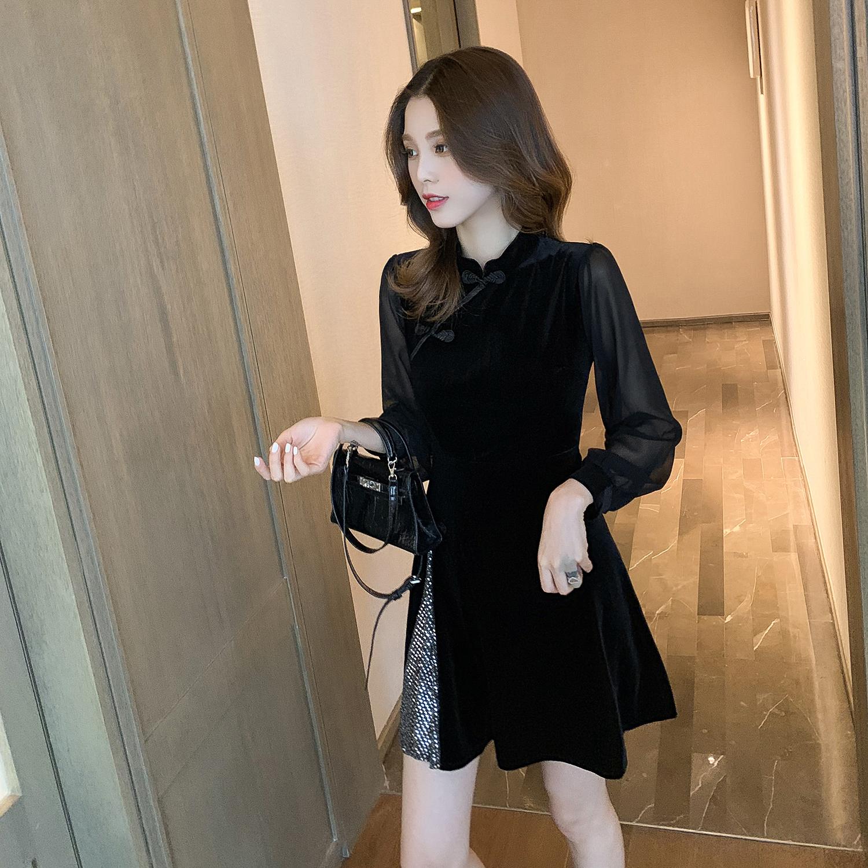 气场女王中国风改良版过年晚礼服