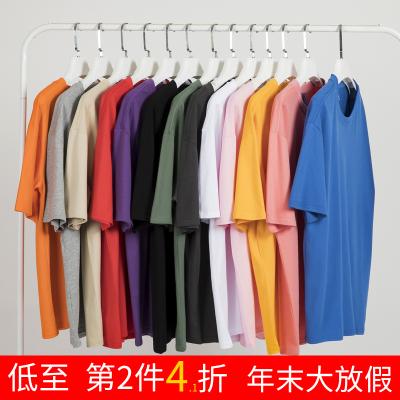 2019网红白色短袖t恤男潮牌打底衫
