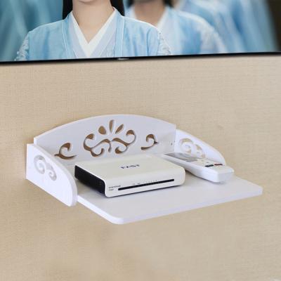 免打孔电视机顶盒客厅壁挂置物架