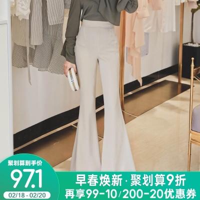 2020年新款春季气质高腰大喇叭裤
