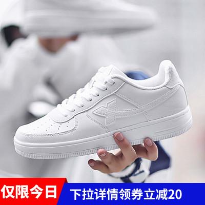 特步冬季情侣2020新款空军一号男鞋