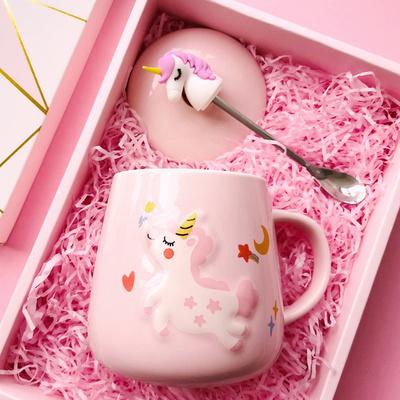 创意个性可爱喝水杯子陶瓷勺马克杯