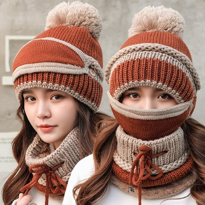 冬天韩版可爱保暖口罩护耳骑车帽