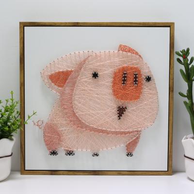 希风弦丝画diy手工制作猪画材料包