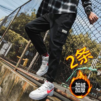 男士韩版潮流潮牌宽松束脚运动裤