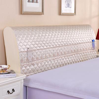 全包蕾丝床头罩1.5米实木欧式软包
