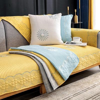 布艺沙发垫防滑四季套罩实木坐垫