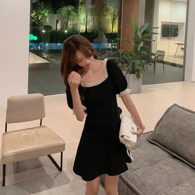 灰灰家定制 小黑裙不规则设计感连衣裙赫本风修身显瘦气质轻熟风