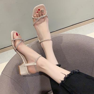 仙女风2020年夏季新款韩版水钻凉鞋