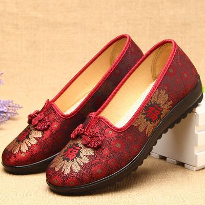 老北京红布鞋女 红色鞋子妈妈款太太中老年人闰月鞋 老人奶奶女鞋