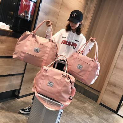 网红旅行包女手提行李袋女韩版大容量可爱小短途轻便旅游学生潮包