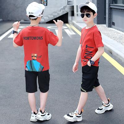 儿童装男童夏装套装2020新款夏季男孩帅气夏天洋气夏款短袖潮10岁