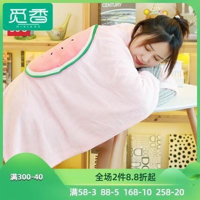 miniso名创优品抱枕被子毯子两用靠垫睡觉办公室可爱沙发空调被毯