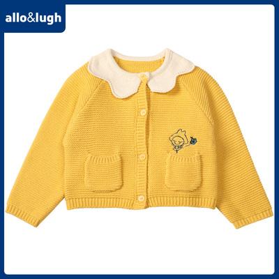 allolugh阿路和如女童纯色针织衫