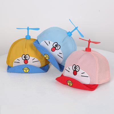 婴儿帽子夏季薄款遮阳防晒哆啦a梦宝宝男女儿童网红竹蜻蜓鸭舌帽