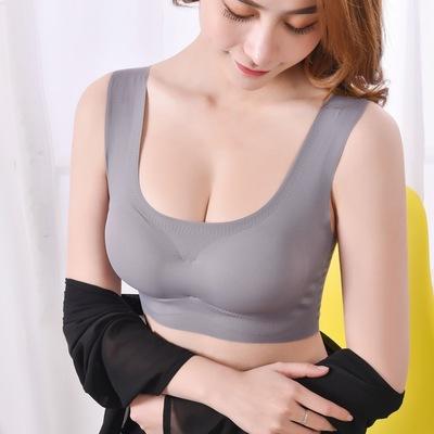 夏季隐形内衣无钢圈聚拢调整型无痕性感胸罩睡眠文胸瑜珈运动文胸