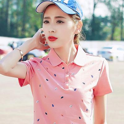 韩版夏装新款2020大码女装女polo衫