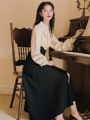 复古套装裙女2020新款春秋装韩版春夏显瘦气质韩版时尚显瘦两件套
