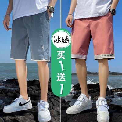 裤子男士夏季薄款潮流工装五分休闲外穿运动七分宽松速干短裤男潮