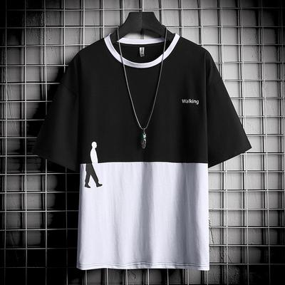 短袖男T恤2020夏季仿棉青年潮流时尚短袖男学生上衣个性修身青年