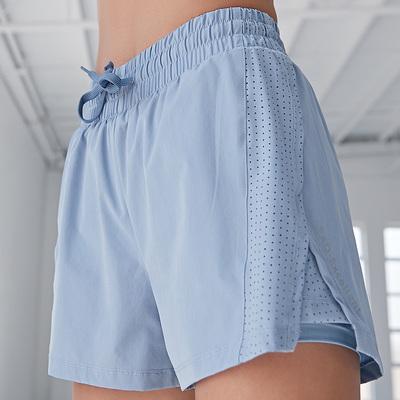 运动双层防走光瑜伽裤薄透气短裤