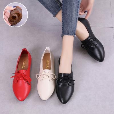 牛筋软底平底鞋豆豆鞋女2020夏季新款鞋子英伦单鞋女鞋秋款小白鞋