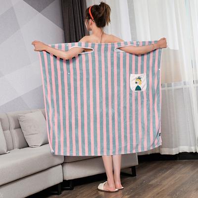 百变浴巾女可穿可裹家用比纯棉吸水速干不掉毛吊带加大款浴裙浴袍