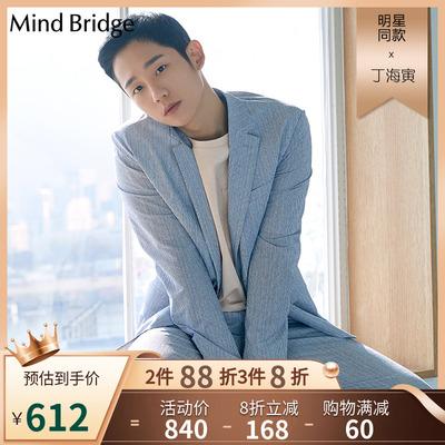 Mind Bridge百家好夏季外套男士潮流帅气韩版休闲西装MTJK3106
