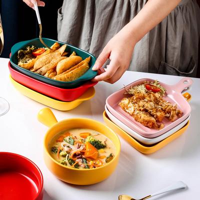 烤盘烤碗烤箱微波炉北欧网红菜盘子