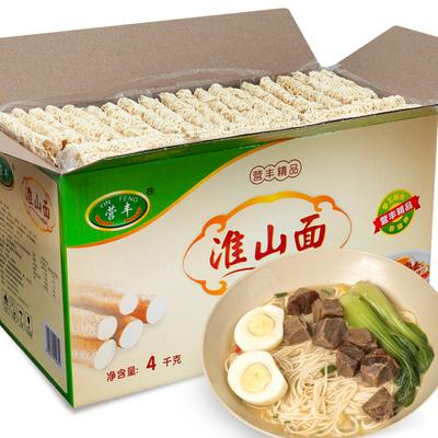 8斤装淮山面山药面 非油炸云吞面方便面广东细面条速食面礼盒整箱