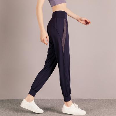 直筒运动裤女宽松束脚瑜伽裤速干跑步健身裤显瘦薄款休闲裤女夏季