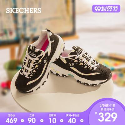 Skechers斯凯奇2020厚底户外老爹鞋熊猫鞋女士休闲运动鞋149236