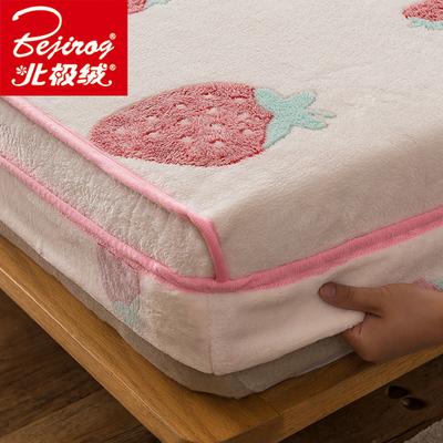 珊瑚绒床笠单件冬季加厚双面法兰绒床罩全包防滑席梦思床垫保护套