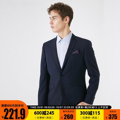 [聚]SELECTED思莱德男士含羊毛戗驳领商务合体西装外套41915Y507
