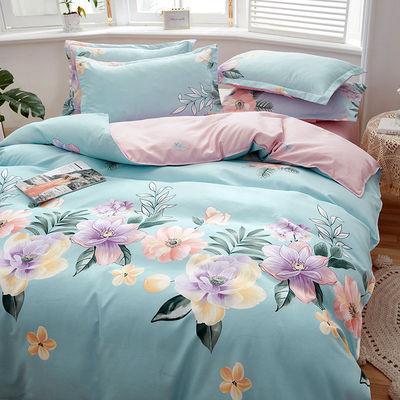 加厚斜纹磨毛高质居家四件套床上用品六件单人宿舍三件套双人被罩
