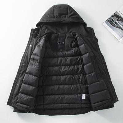 硬货!加厚防风版!冬季新款连帽羽绒服男时尚青年保暖休闲外套