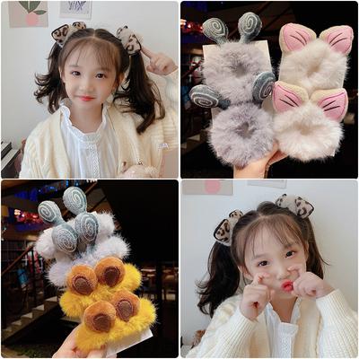 韩国网红ins毛绒女童扎头发发圈