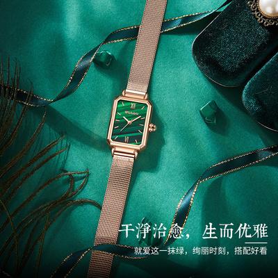 2020年新款满天星小方形手表女士十大正品简约气质潮名牌学生女表