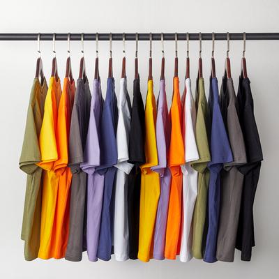 纯色纯棉短袖t恤男士秋冬季打底衫