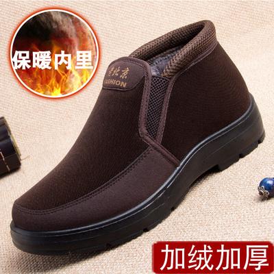 老北京布鞋中老年人保暖男式棉鞋