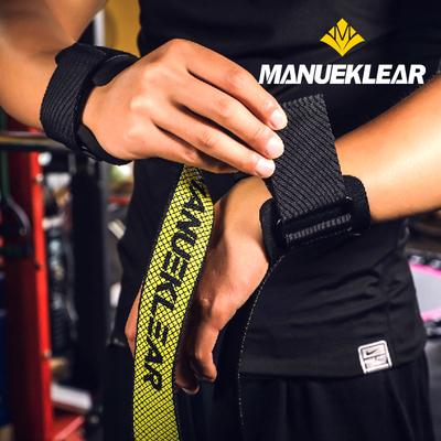 穆勒健身健美举重助力带硬拉握力带引体向上训练辅助防滑护腕手套