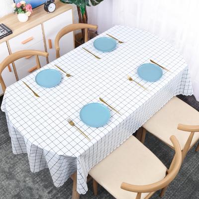 布艺防水防油免洗椭圆形餐桌垫台布