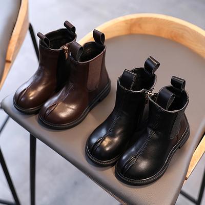 女童鞋网红2020年冬季新款加绒靴子