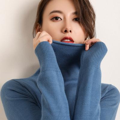 【双12专场】堆堆领女毛衣短款针织宽松慵懒贴身柔软大码打底衫