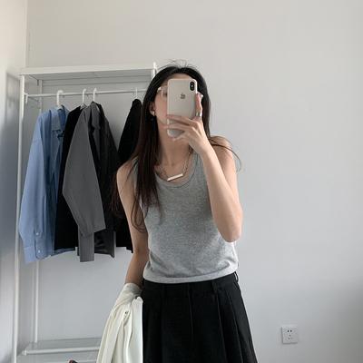 SIXI四喜家自制春夏 螺纹吊带背心女韩版纯色修身显瘦内搭打底衫