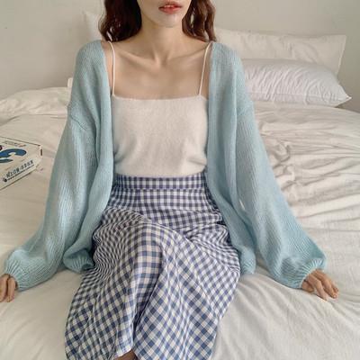 【Dear YN】温柔软糯慵懒风马海毛针织开衫薄款宽松外套上衣女春