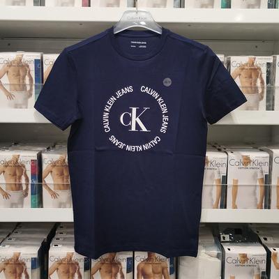 春夏新款 纽约大宝 Calvin Klein Jeans/CK男纯色字母印花短袖T恤
