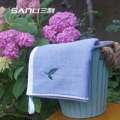 三利绿茶香味纯棉纱布100%全棉毛巾
