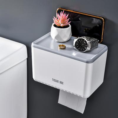 厕所纸巾盒免打孔卫生纸防水置物架